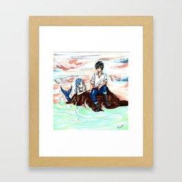 Gruvia Mermaid Framed Art Print