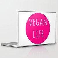 vegan Laptop & iPad Skins featuring Vegan Life by Love Libby X