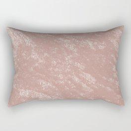 Soft rose gold velvet Rectangular Pillow