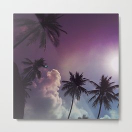 Palm night II Metal Print