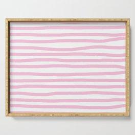 Pink Stripes Horizontal Serving Tray