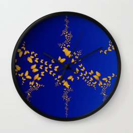Flight of the Butterflies Wall Clock