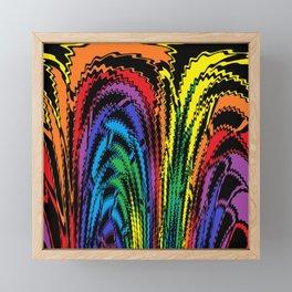 Tossing the Rainbow Framed Mini Art Print