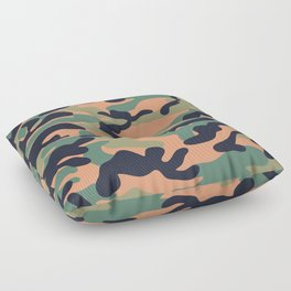 Military camouflage pattern 17 Floor Pillow