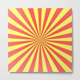 Starburst (Red & Yellow Pattern) Metal Print