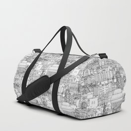 Edinburgh toile black white Duffle Bag