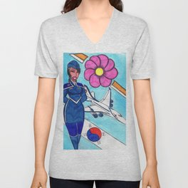 Fly To Korea With Me Unisex V-Neck