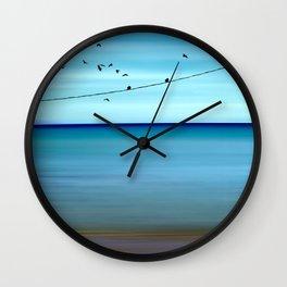 Cretan Sea & Birds II Wall Clock