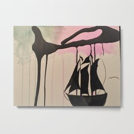 Boats and Spills Metal Print