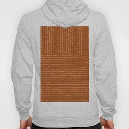 Lines (Rust) Hoodie