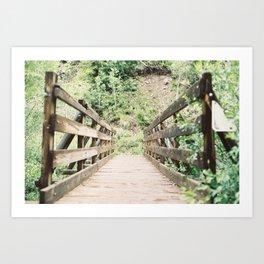 Wooden Bridge (35mm Film) Art Print