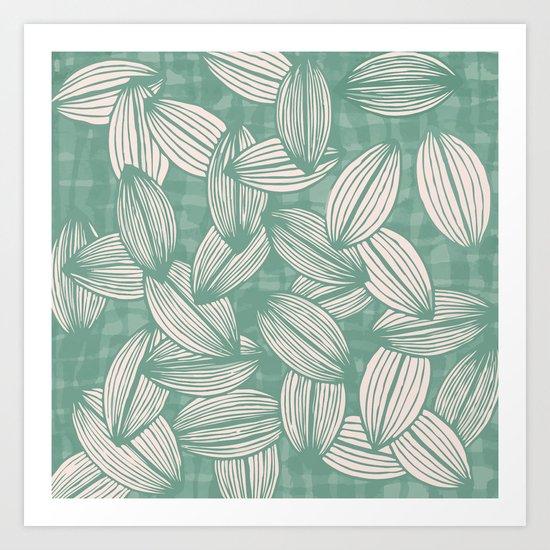 leavesfall Art Print