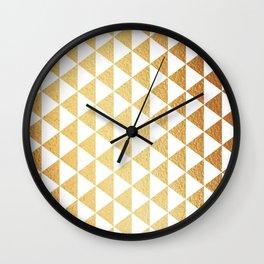 Triangle Geometric Wall Clock