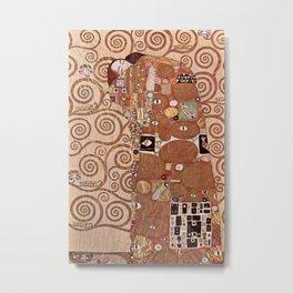 Gustav Klimt - Die Umarmung Metal Print