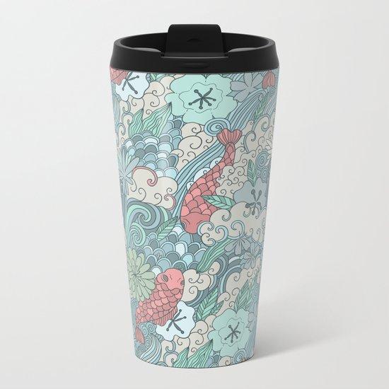 Japanese garden Metal Travel Mug