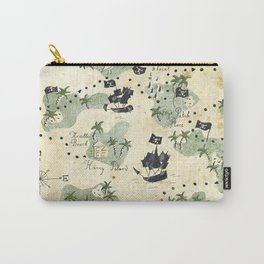 Hand Drawn Pirate Map Carry-All Pouch