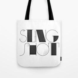 Sling Shot Lettering Tote Bag