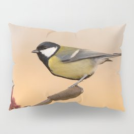 Songbird (Great Tit) on Autumn Day #decor #society6 #buyart Pillow Sham