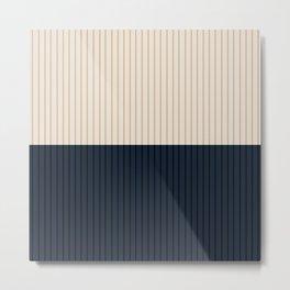 Color Block Lines XXXX Metal Print