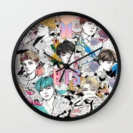 BTS Members -Love Yourself Wall Clock