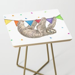 Sloth with Bunting #1 Side Table