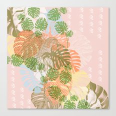 Abstract leaves of monstera Canvas Print