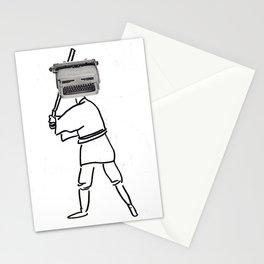 luke typewriter Stationery Cards