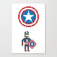 steve rogers Canvas Prints featuring Steve Rogers by Bryan