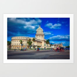 El Capitolio; Havana, Cuba Art Print