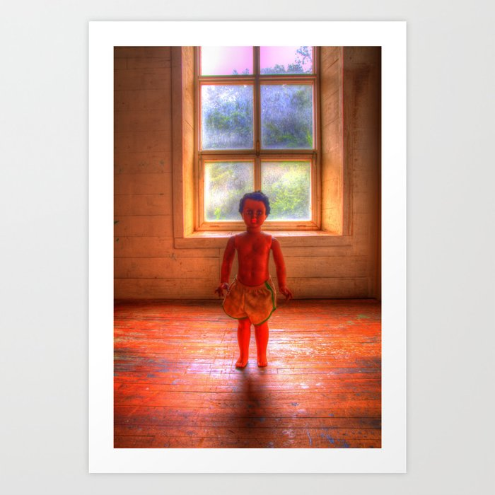 Doll Window Art Print
