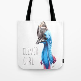 Clever Girl (Cassowary) Tote Bag