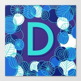 Blue type D Canvas Print