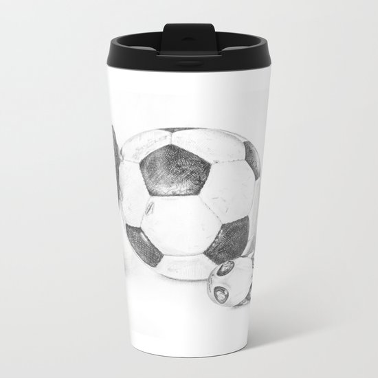 Football Metal Travel Mug