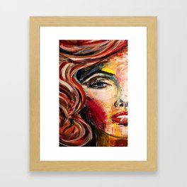 looking to my eyes Framed Art Print