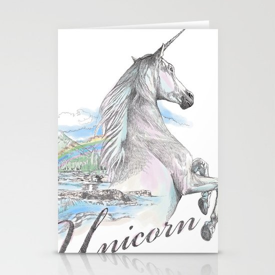 Unicorn classic Stationery Cards