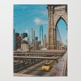 The Bridge in New York City (Color) Poster