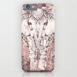Bohemian, Elephant, Mandala, Blush, Moon iPhone Case