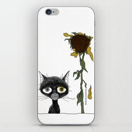 Sad is one complicated emotion of a cat! iPhone Skin