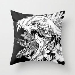 Kitty Poison Throw Pillow