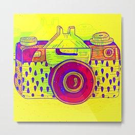 Analog Retro Photo Camera Metal Print