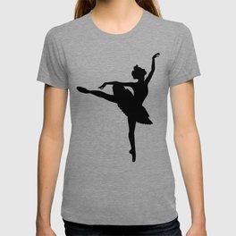 Ballerina silhouette (black) T-shirt