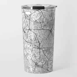 Bucharest White Map Travel Mug