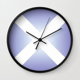 flag of scotland - with color gradient Wall Clock