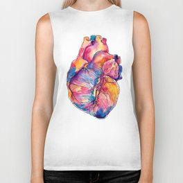 Heart Is On Fire Biker Tank