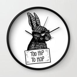 Too Hip To Hop Wall Clock
