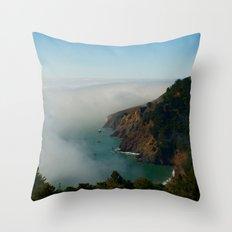Marin Headlands Fog Throw Pillow