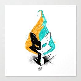 Nightmare/ScribbleNetty (Orange/Turquoise) Canvas Print