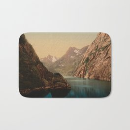 """Lofoten Trollfjord Norway"" Bath Mat"