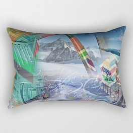 Geometrie sul Monte Bianco Rectangular Pillow