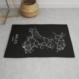 Wales Road Map Rug